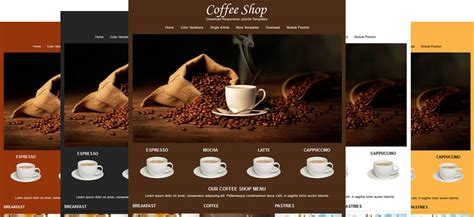 Jsr Coffee Shop Cafe Joomla Templates Free Coffee Website Templates