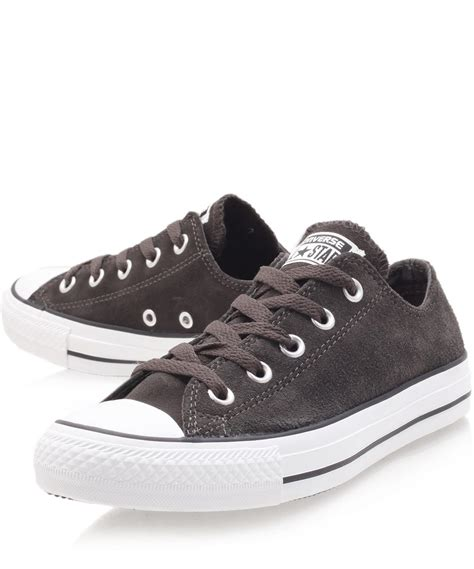 Converse Chuck Low Black converse black chuck suede low trainers in black for lyst