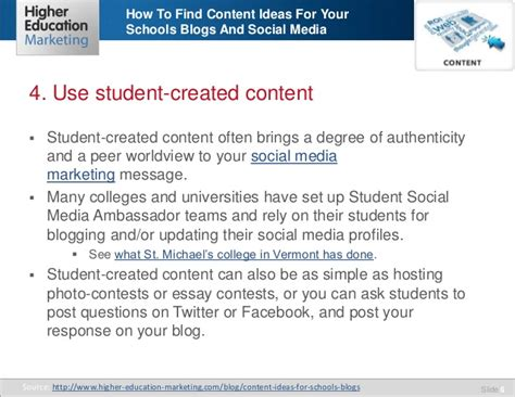 How To Find From Your School How To Find Content Ideas For Your Schools Blogs And Social Media