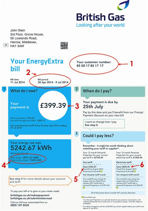 Uk Utility Bill Template by Gas Bill Explained Myutilitygenius