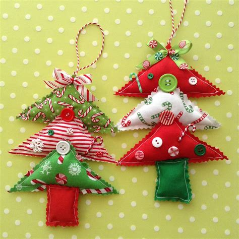 christmas tree ornaments fabric christmas tree ornaments