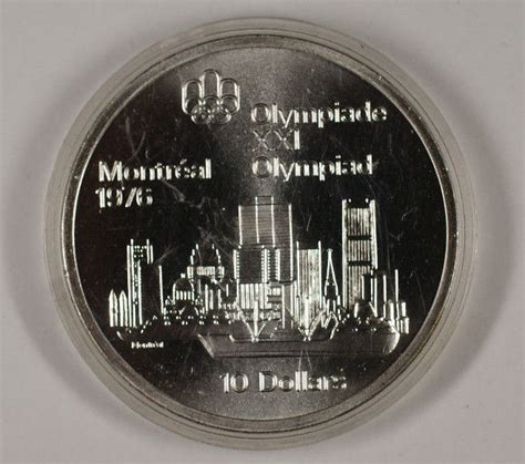 10 Dollar Silver Coin 1976 by 1973 Canada Rcm 10 Dollar Silver 1976 Montreal Olympic
