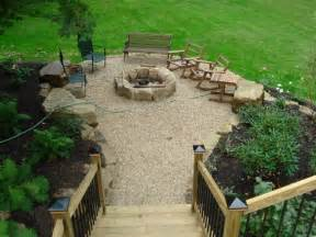 pea gravel pit gravel patio outdoor ideas gravel patio