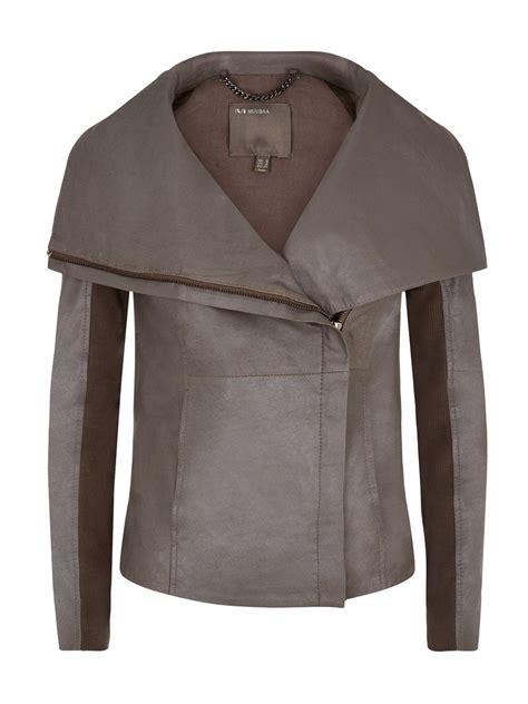 leather drape jacket seine grey leather drape jacket