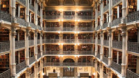 george library quadcopter in the george peabody library
