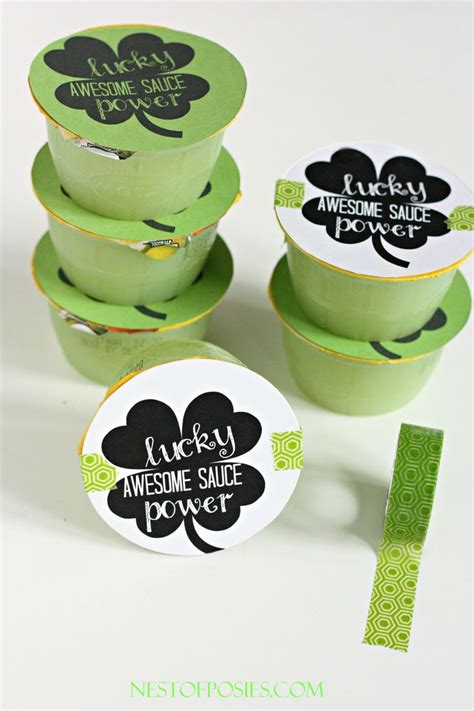 s day snack ideas lucky awesome sauce power school snack idea and printable st s day ideas