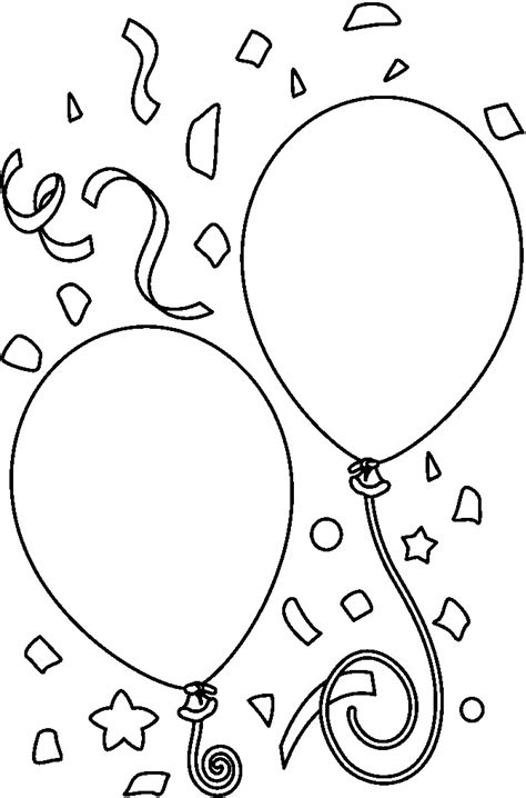 Happy birthday balloon clipart black and white clipartsgram com