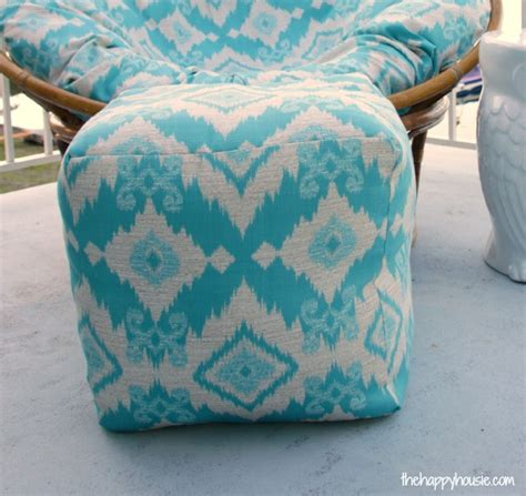 how to make an ottoman pouf how to sew a diy pouf ottoman indoor or outdoor the