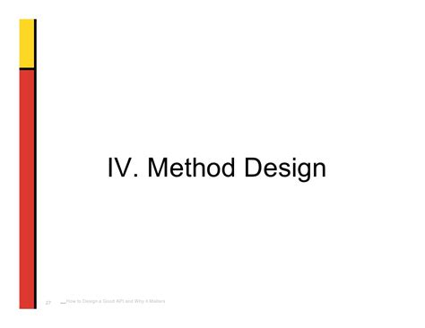 design method is iv method design how to