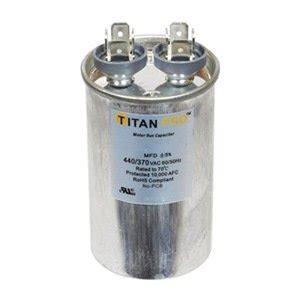 15 uf run capacitor titanpro trcf15 hvac motor run capacitor 15 mfd uf 440 370 volts walmart