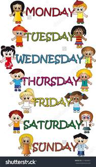 days of the week calendar clipart 74