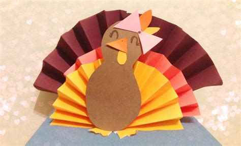 Paper Turkeys To Make - diy 3d paper turkey
