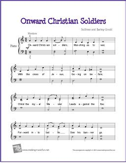 easy church songs for piano