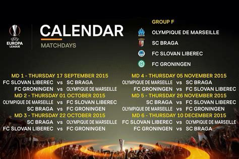 europa league le calendrier de l om om net
