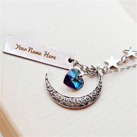 write name on jewelry necklace pendant bracelet or chain