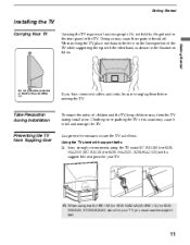 sony kds 50a2020 l replacement how to reattach the l door and put the outside l