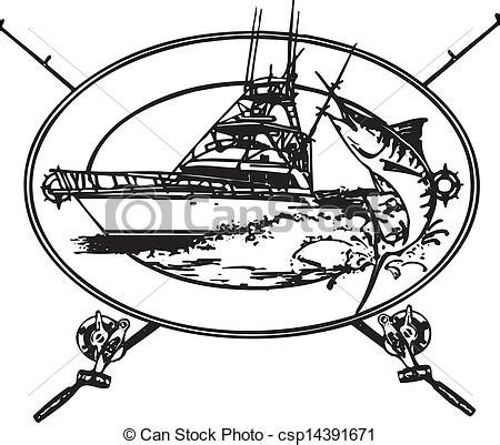 offshore fishing boat graphics offshore boat offshor fishing boat with marlin coming out