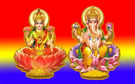 goddess lakshmi  god ganesha indian religious