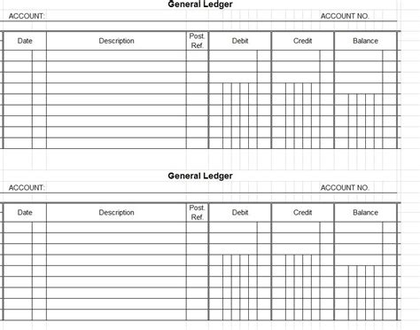 accounting templates accounting ledger template account ledger template