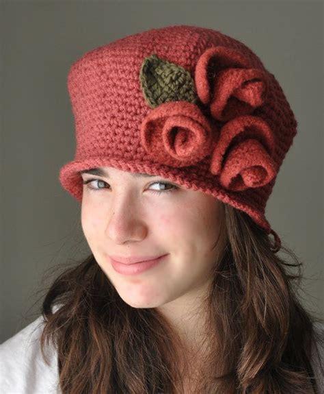 pattern for felt cloche hat 158 best rose crochet cloche hats images on pinterest