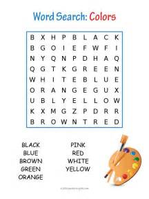 color search colors word search