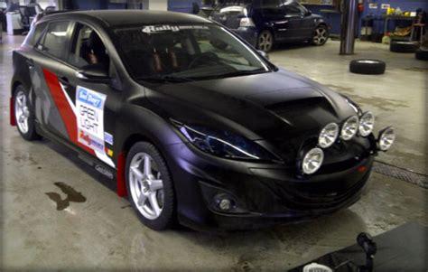 mazda 3 rally car sno drift 2011 corksport mazda performance