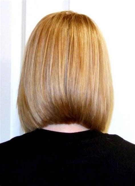 front and back view of long hair styles long concave bob hairstyle front and back view