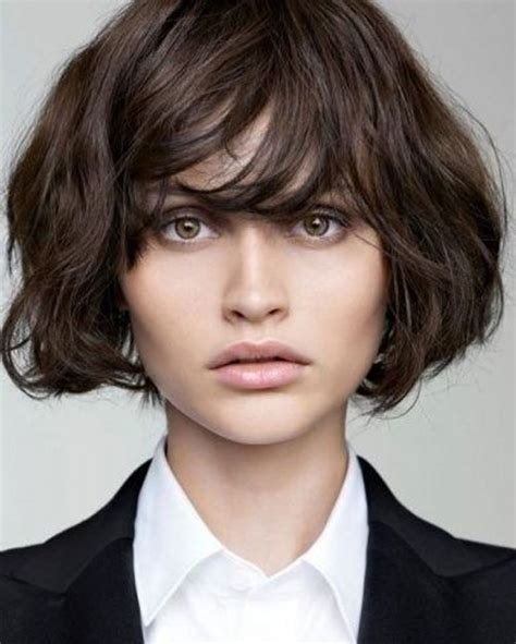 bob haircuts with bangs curly hair 22 sexy short hairstyles for wavy hair cool trendy