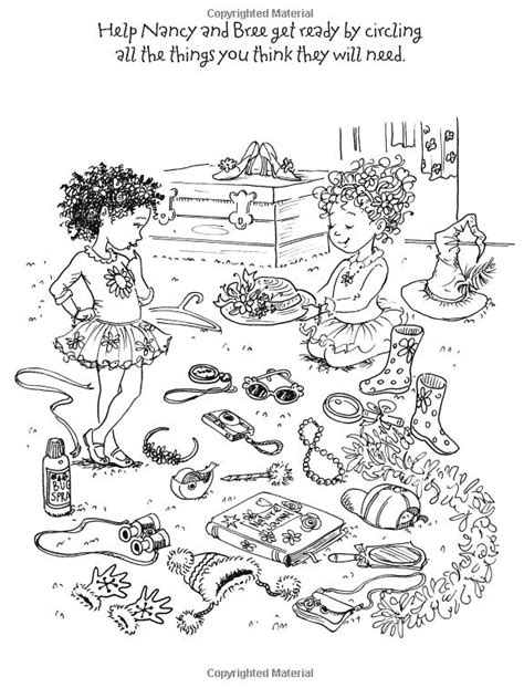 fancy nancy party coloring page coloring pages