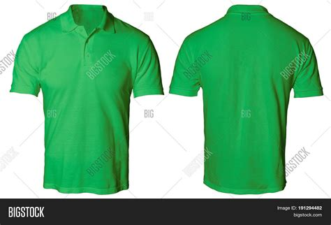 design t shirt front and back blank polo shirt mock template image photo bigstock