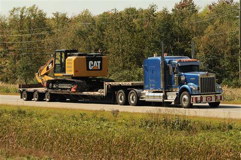 heavy haul kenworth trucks kenworth w900 heavy haul truck and triaxle dropdeck traile