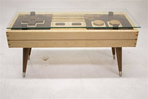 Nintendo Coffee Table For Sale Handcrafted Nintendo Controller Low Rectangular Wooden Coffee Table For Sale At 1stdibs