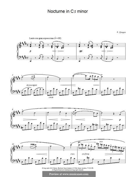 nocturne in c sharp minor b 49 sweet harmony nocturne in c sharp minor b 49 kk iva 16 by f chopin on