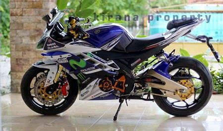 Yamaha R25 Movistar Durable Motor Cover Blue spek motor modifikasi yamaha r15 konsep movistar sangar