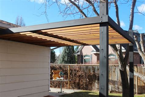 How To Install Modern Pergola Rafters Without Brackets Black Pergola Hardware