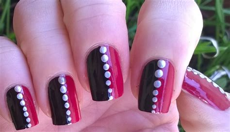 Easy Nail Art Black And Pink | easy nail art designs 1 diy pretty black pink