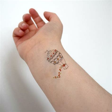 hipster small tattoos air balloon temporary small temporary