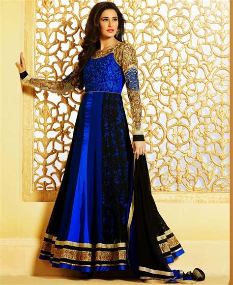 Anarkali Dressbaju Indiadress 114 buy sparkling black blue wedding salwar kameez adf31793 at 77 38
