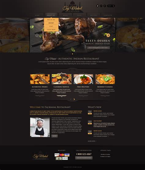 restaurant wordpress theme wordpress restaurant template
