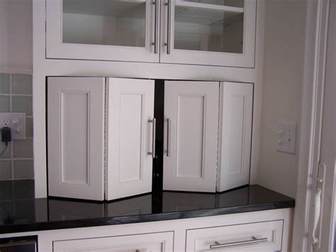 Kitchen Cabinet Garage Door | recycle bifold doors doors appliance lift double wide