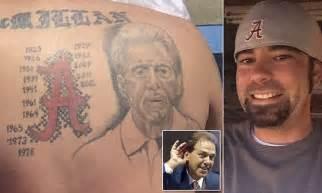 tattoo governing body uk fan gets massive nick saban alabama tattoo on his back