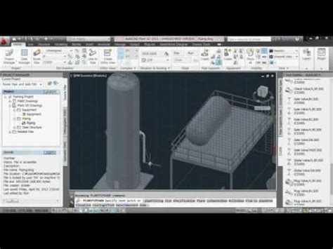 tutorial autocad piping autocad plant 3d 2012 tutorial 03 piping avi youtube
