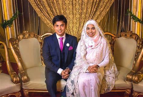 muslim bride wore  makeup   wedding