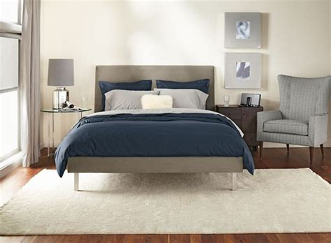 room and board bedding ella bedroom with stainless steel by r b modern