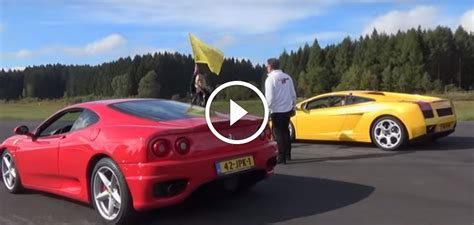 Ferrari 360 Modena vs Lamborghini Gallardo Race