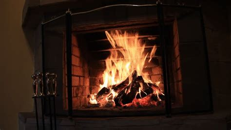 Hd Fireplace Loop by Fireplace Live Feed Background Loop Left Stock