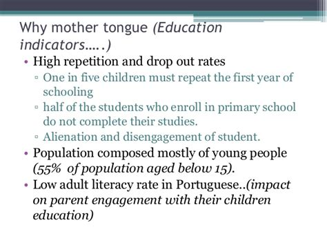 thesis about mother tongue based education mother tongue based multilingual education 2