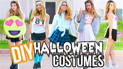 diy  minute halloween costumes youtube
