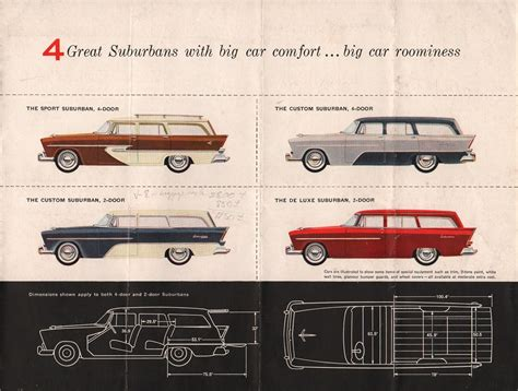 leaflet design plymouth chrysler 1956 plymouth sales brochure
