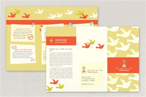 church booklet template bright community church brochure template inkd